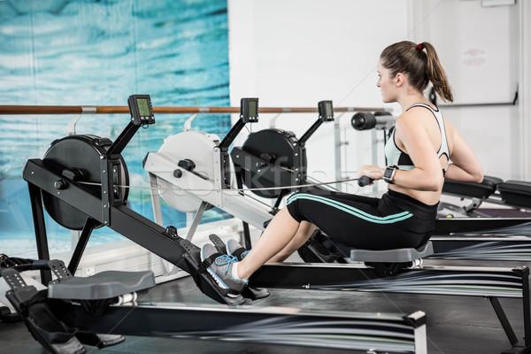 соответствовать брюнетка рисунок машина спортзал женщину Сток-фото © wavebreak_media