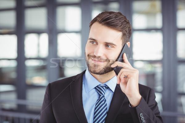 Işadamı konuşma cep telefonu ofis Stok fotoğraf © wavebreak_media