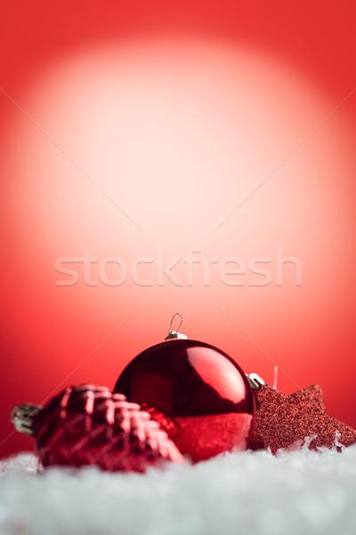 Stok fotoğraf: Görüntü · Noel · önemsiz · şey · dekorasyon · kırmızı