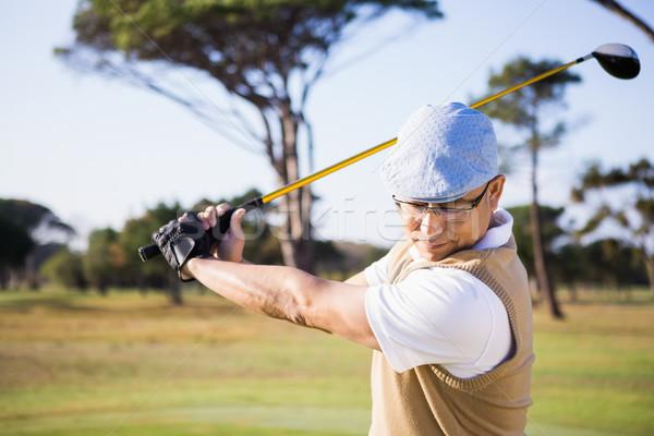 спортсмен играет гольф области человека Сток-фото © wavebreak_media