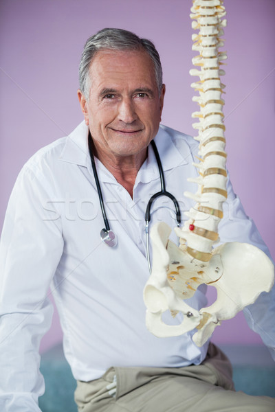 Portre omurga model klinik adam Stok fotoğraf © wavebreak_media