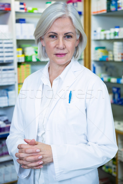 Pharmacien sarrau portrait pharmacie femme médecin Photo stock © wavebreak_media