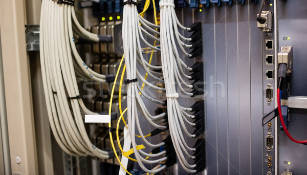 Primer plano rack servidor habitación feliz red Foto stock © wavebreak_media