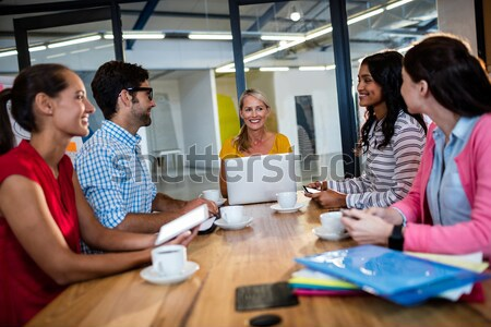 Stock photo: Graphic designers at their desk