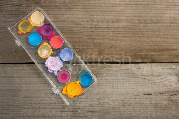 Palette on wooden surface Stock photo © wavebreak_media