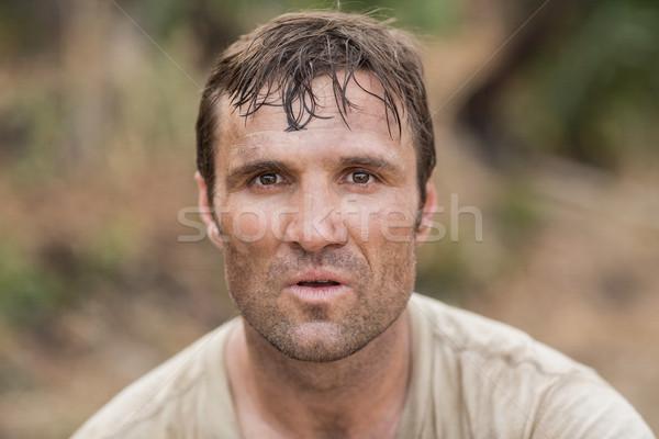 Caber homem bota acampamento fitness esportes Foto stock © wavebreak_media