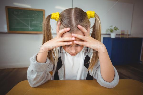 расстраивать сидят столе классе девушки школы Сток-фото © wavebreak_media