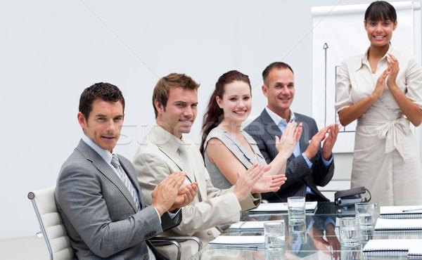 Gens d'affaires collègue ventes souriant affaires Photo stock © wavebreak_media