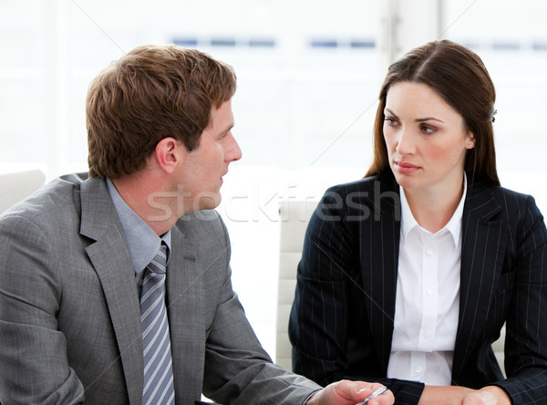 Kettő koncentrált üzletemberek beszél együtt cég Stock fotó © wavebreak_media