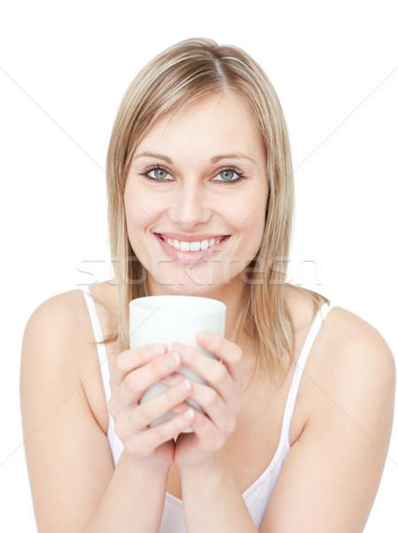 Portrait of a blond woman drinking cofee Stock photo © wavebreak_media