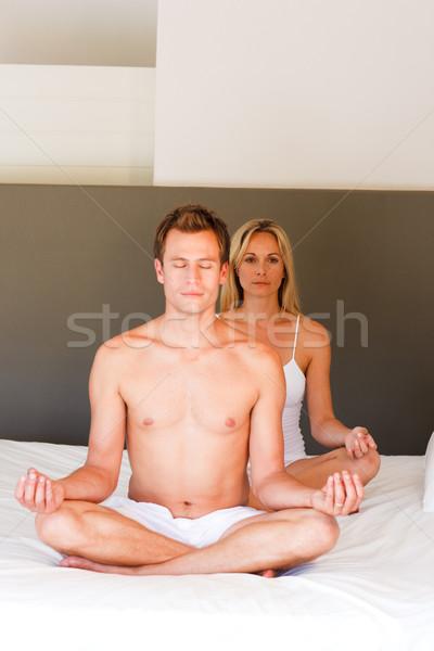 Mediación Buda meditación mano cara Foto stock © wavebreak_media