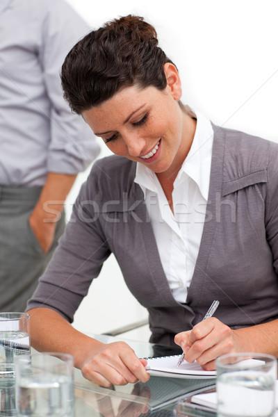 Stock fotó: Vonzó · üzletasszony · jegyzetel · megbeszélés · üzlet · nő