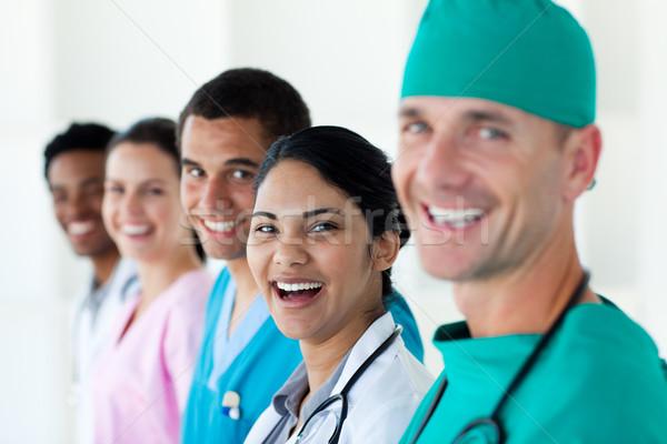 A diverse medical team in a line  Stock photo © wavebreak_media