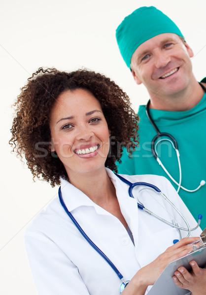 Presentatie jonge arts mannelijke chirurg witte Stockfoto © wavebreak_media