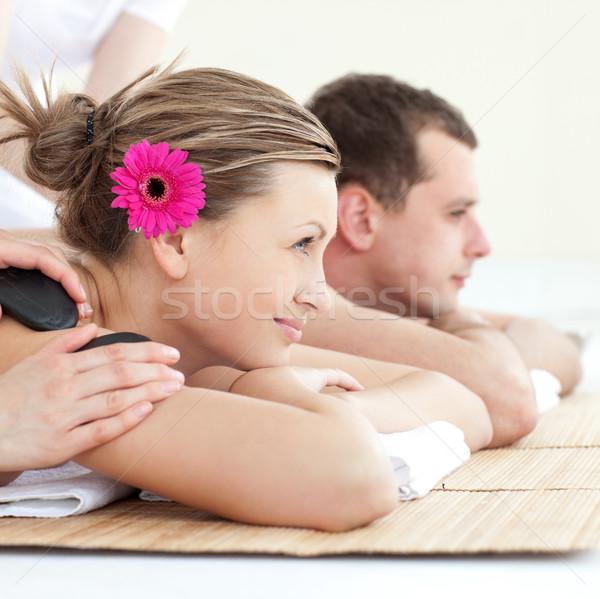 Vrolijk genieten spa-behandeling spa centrum Stockfoto © wavebreak_media