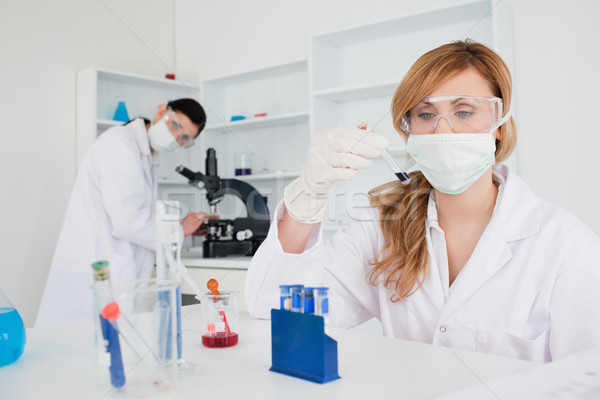Scientists carrying out an experiment in a lab Stock photo © wavebreak_media