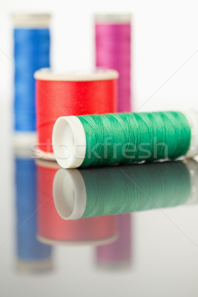 Colorido fio tabela branco textura moda Foto stock © wavebreak_media