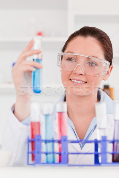 Portrait of a young scientist storing a test tube Stock photo © wavebreak_media