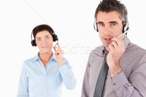 Kantoormedewerkers witte kantoor werk paar zakenman Stockfoto © wavebreak_media