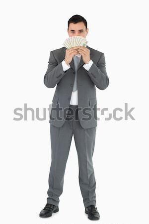 Işadamı beyaz iş el yüz Stok fotoğraf © wavebreak_media