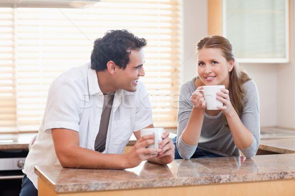 コーヒーブレイク 一緒に 幸せ ホーム ストックフォト © wavebreak_media