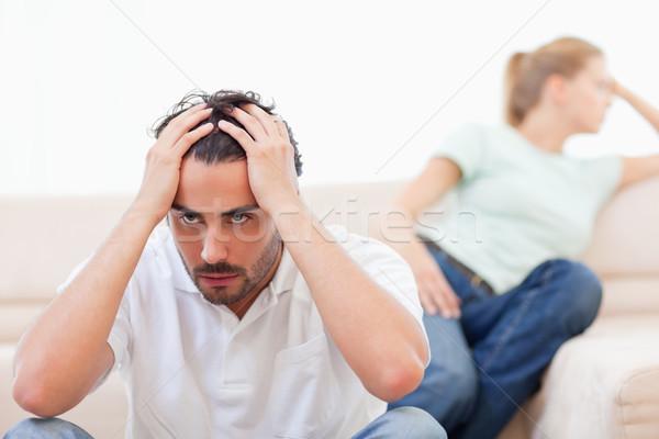 сердиться пару ума другой гостиной любви Сток-фото © wavebreak_media