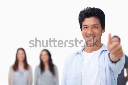 Sorridere maschio amici dietro up bianco Foto d'archivio © wavebreak_media