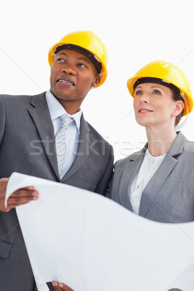 Iki iş adamları kâğıt Stok fotoğraf © wavebreak_media