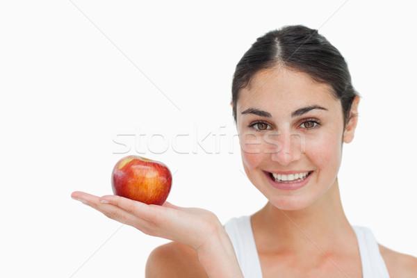 Vrouw dieet appel hand witte palm Stockfoto © wavebreak_media