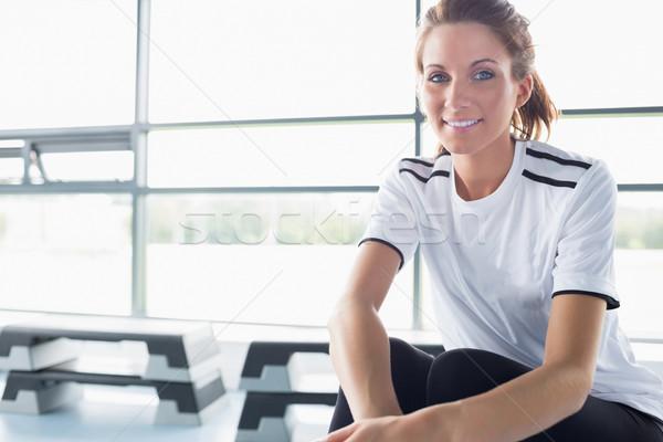 женщину сидят машина спортзал спорт Сток-фото © wavebreak_media