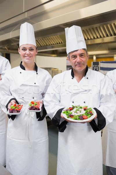 Повара кухне счастливым фон ресторан Сток-фото © wavebreak_media