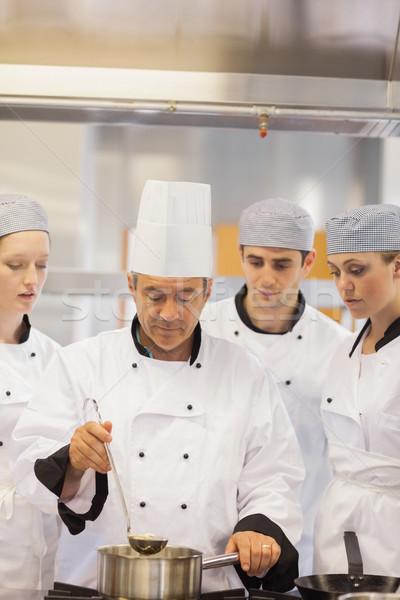 Culinaria classe apprendimento zuppa felice Foto d'archivio © wavebreak_media