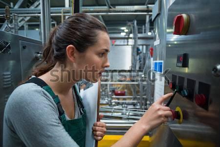 Servidor em pé entrada computador cabo poder Foto stock © wavebreak_media