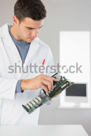 компьютер инженер рабочих процессор открытых молодые Сток-фото © wavebreak_media