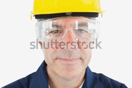 Close-up of architect wearing protective eyewear and hardhat Stock photo © wavebreak_media