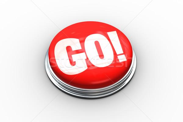 Go on digitally generated red push button Stock photo © wavebreak_media
