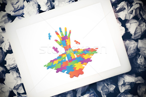 Imagem autismo consciência mão Foto stock © wavebreak_media