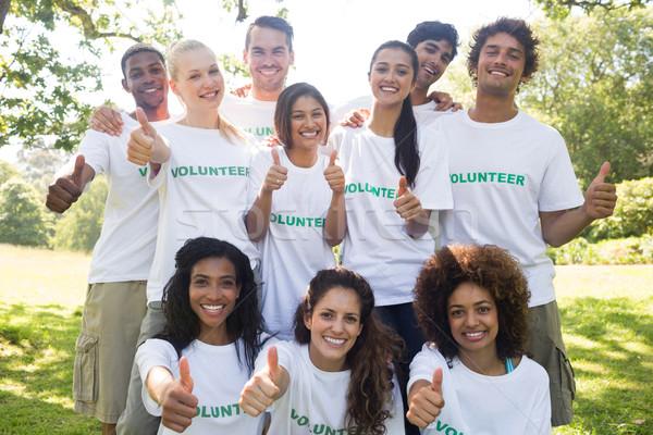 Vrijwilligers groep portret park Stockfoto © wavebreak_media