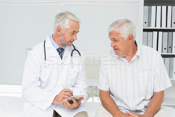 Erkek kıdemli hasta doktor tıbbi ofis Stok fotoğraf © wavebreak_media