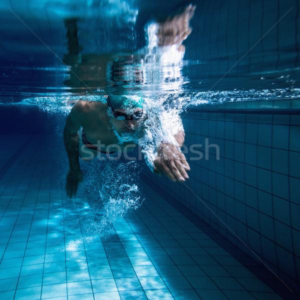 フィット スイマー 訓練 スイミングプール レジャー センター ストックフォト © wavebreak_media