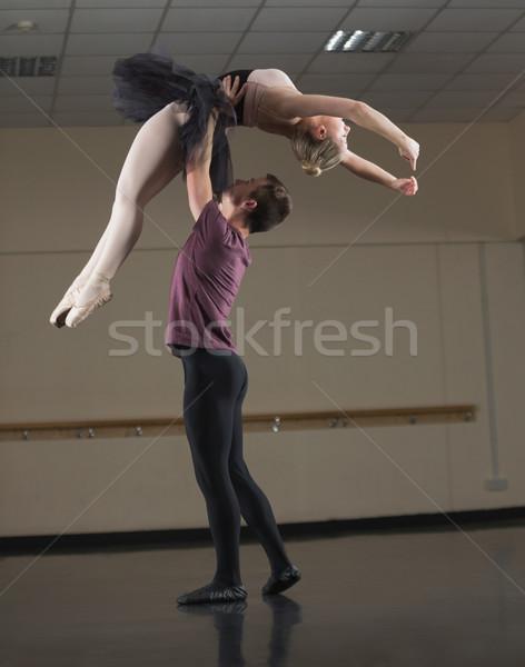 バレエ パートナー ダンス 一緒に スタジオ チーム ストックフォト © wavebreak_media