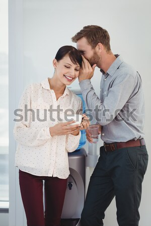 Young couple sitting in chairs arguing Stock photo © wavebreak_media