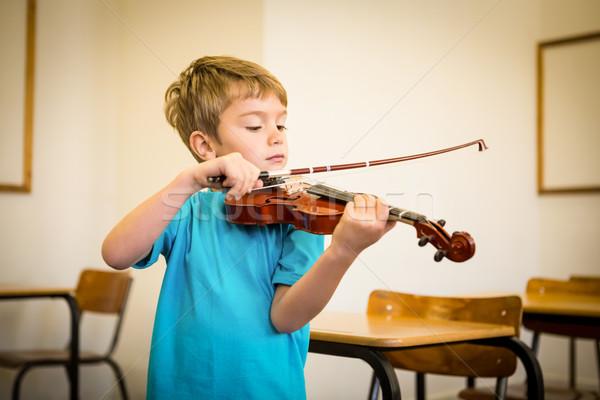 Sevimli oynama keman sınıf müzik Stok fotoğraf © wavebreak_media