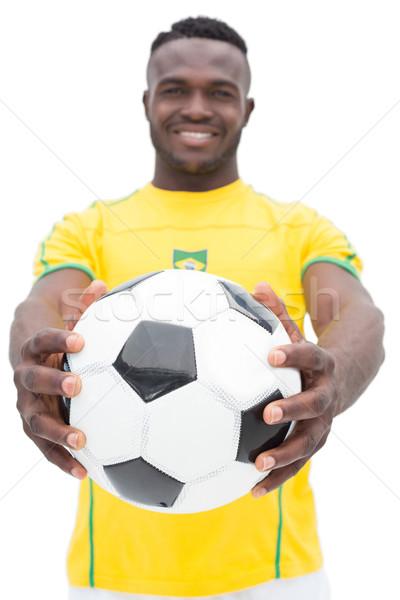 Retrato futbolista pie blanco feliz deporte Foto stock © wavebreak_media