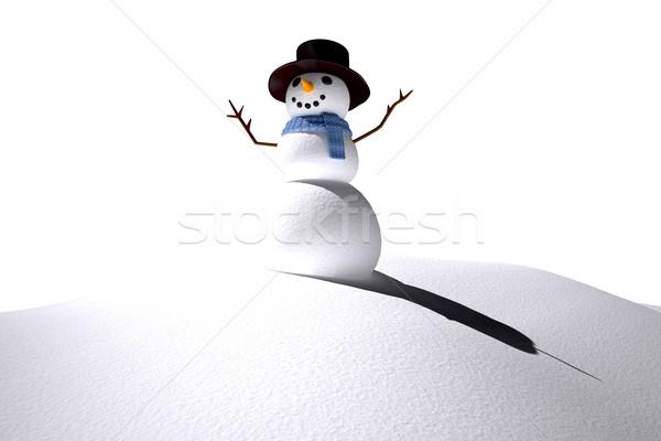 Dijital oluşturulan beyaz kar adam kardan adam Stok fotoğraf © wavebreak_media