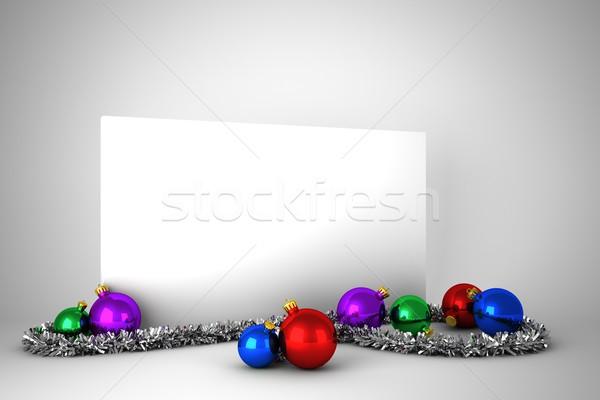 Poster with colourful christmas decorations Stock photo © wavebreak_media