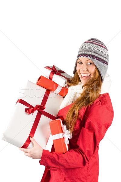 Bastante ropa de abrigo regalos blanco Foto stock © wavebreak_media