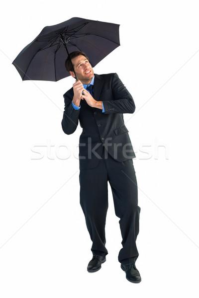 üzletember áll fekete esernyő fehér férfi Stock fotó © wavebreak_media