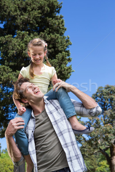 Father and daughter having fun in the park Stock photo © wavebreak_media