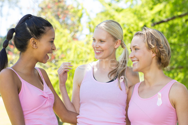 Souriant femmes rose cancer du sein conscience Photo stock © wavebreak_media